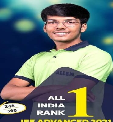 IIT-JEE Advanced 2021 All india Allen top is mridul agarwal
